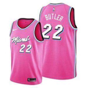 MEN Miami Heat Jimmy Butler Pink #22 Jersey